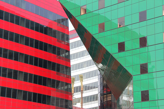 Red and green.