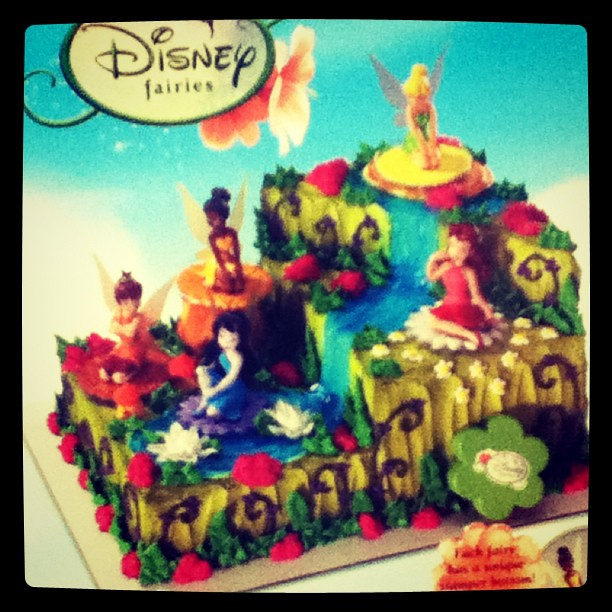 Pleasant Holy Crap Disney Fairies Very Elaborate Birthday Cake You Flickr Funny Birthday Cards Online Elaedamsfinfo