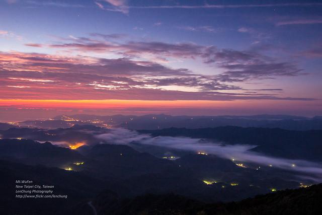 Taiwan_New Taipei City_Mt.WuFen_Daybreak_五分山晨彩_IMG_1751