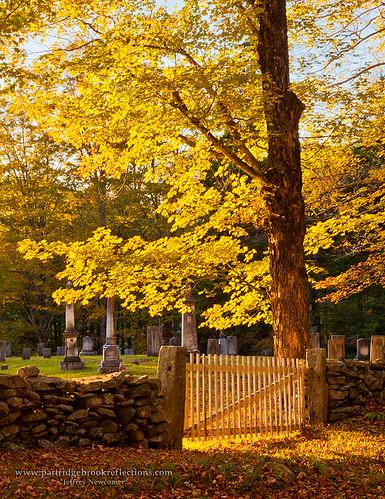 autumn sunset fall vermont newfane newfanevillagecemetery