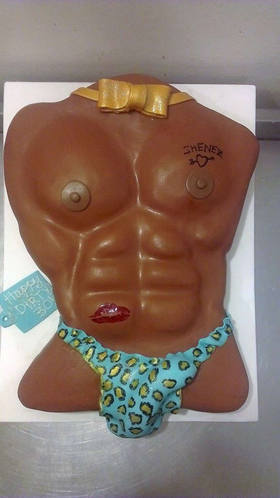 Fabulous Dirty 30 Birthday Cake Sexy Torso Cake For A Dirty 30Th W Flickr Personalised Birthday Cards Bromeletsinfo