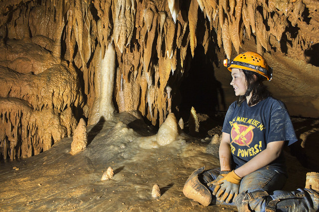 Formation gallery, Olivia Stavely, Crownover Saltpeter Cave, Franklin Co, TN
