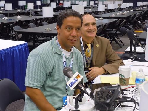 """Robert Weiner and Matt McGill, host of """"The Matt McGill Show"""" (WVON 1690AM Chicago)"""