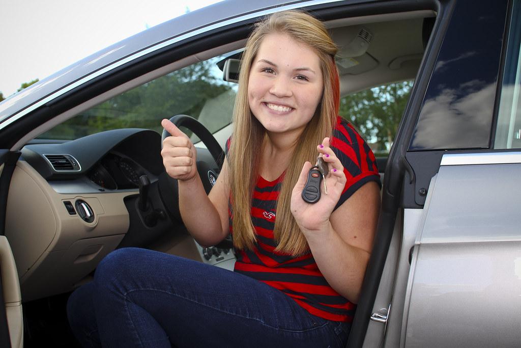 Car driver teen