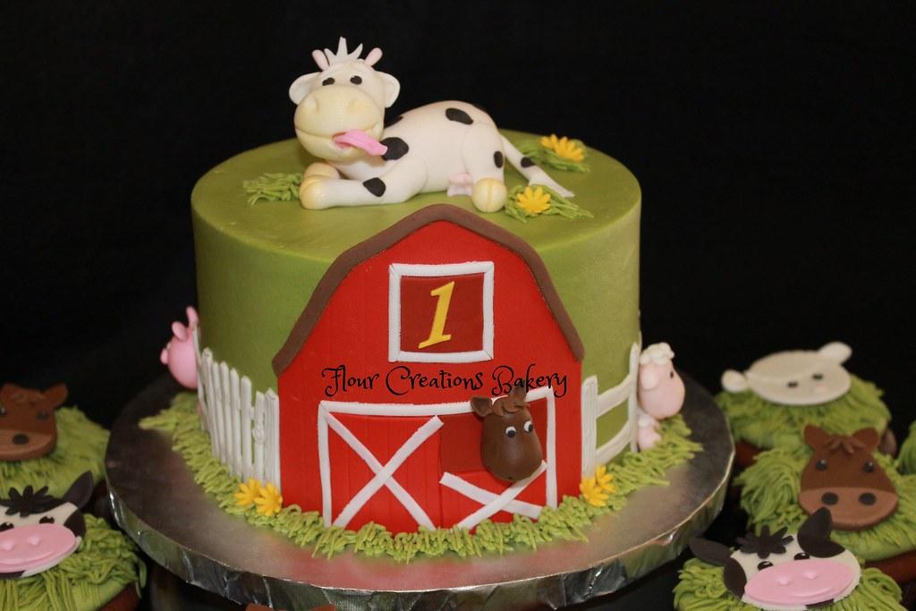 Prime Barnyard Birthday Cake Farm Birthday Cake For 1St Birthday Flickr Funny Birthday Cards Online Inifodamsfinfo