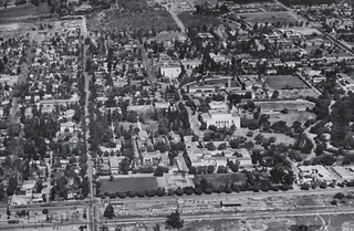 Aerial view of the campus in 1962