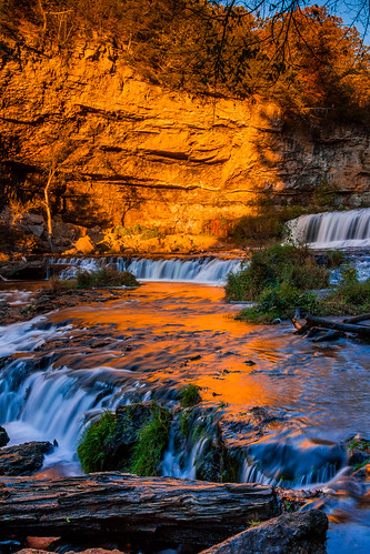 autumn sunset orange water rock wall canon river eos waterfalls willowriverstatepark