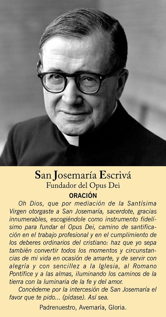 San Josemaría Escrivá De Balaguer Oración De La Estampa Flickr