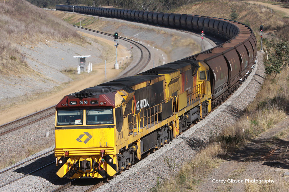 5011 & 5025 round the curve at Whittingham by Corey Gibson