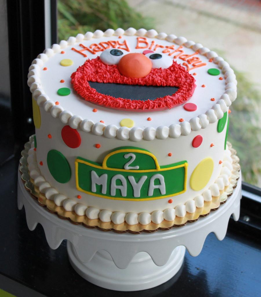 Brilliant Dotty Elmo Birthday Cake Zoe Lukas Flickr Funny Birthday Cards Online Bapapcheapnameinfo