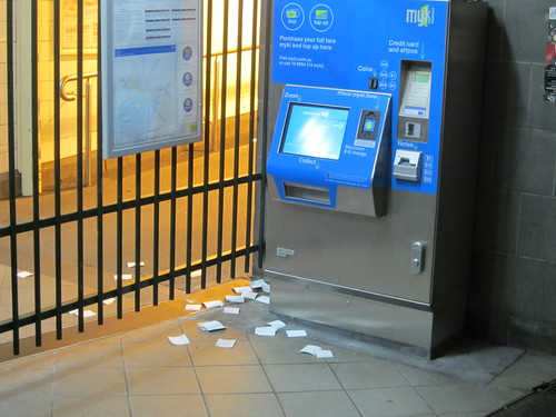 Myki receipts, Flinders Street station