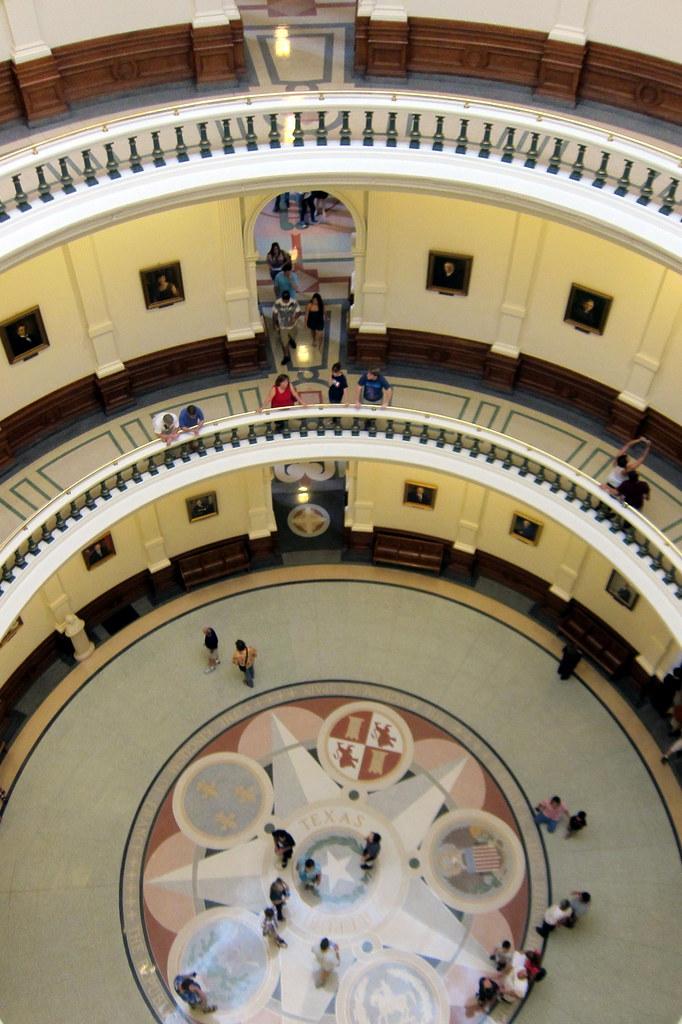 Austin Texas State Capitol Rotunda The Terrazzo Floors