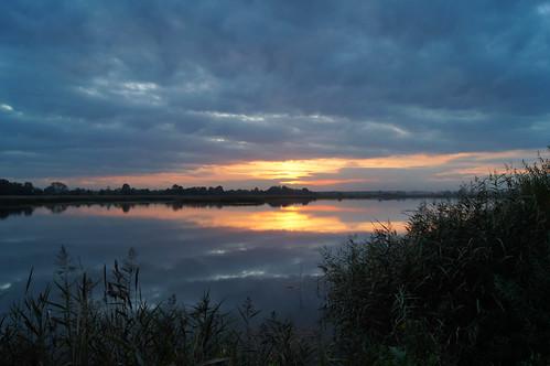 autumn sunset lake pond zator