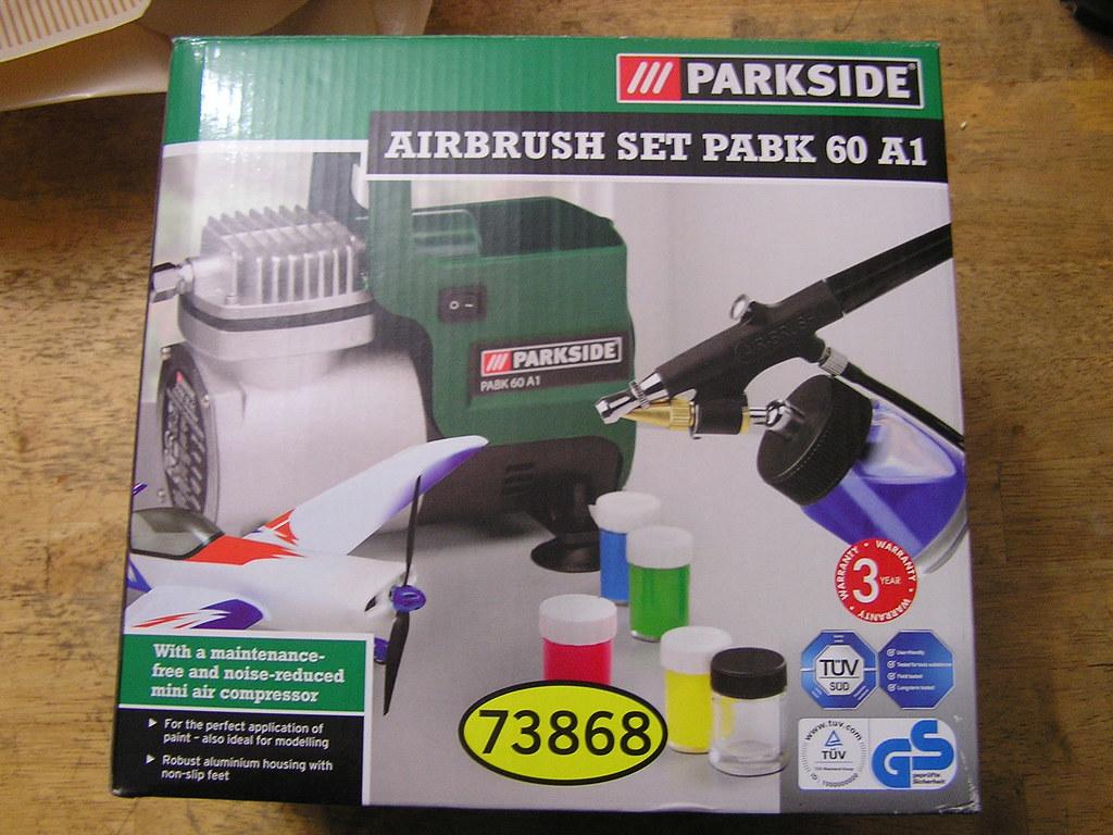 Lidl Airbrush Parkside PABK 60 A1 Compressor - Box Top   Flickr