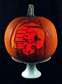 Snoopy Halloween Pumpkin