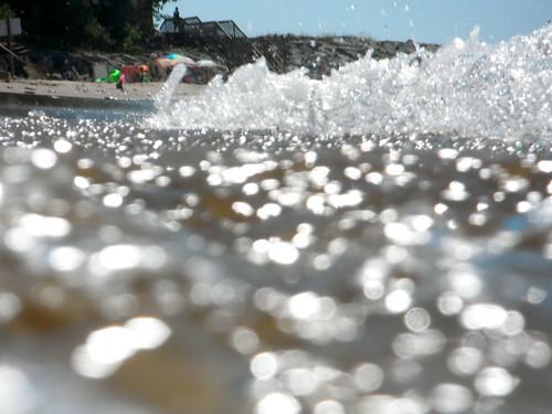 summer vacation lake beach water closeup fuji bokeh pov michigan perspective shoreline bubbles lakemichigan explore pointofview shore finepix 2012 newbuffalo xp20