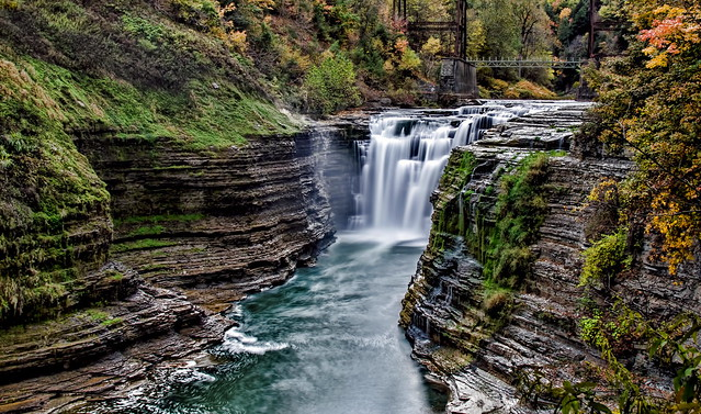 Upper Falls Drama @ Letchworth State Park, New York