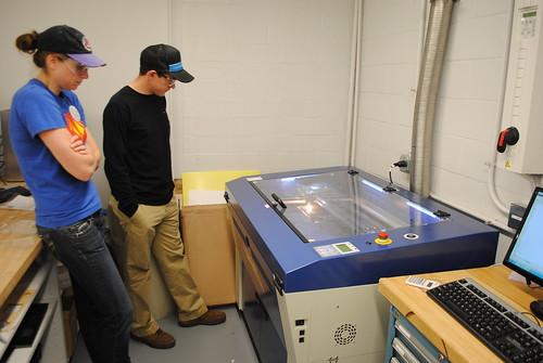 Laser Cutting with Ben Cunkelman and Alyson Pickett | by Thayer School Machine Shop