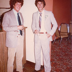 Bruce Withey and David, Peter and Sue's wedding 1979