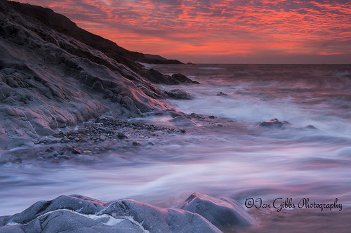 seascape wales sunrise wave horton gower d800 porteynon