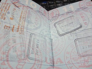 pale blue ~ 23 passport pages | by Upupa4me