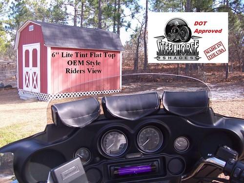 "1996 - 2013 6"" Harley Flat Top FLHT Electra Glide Windshield"