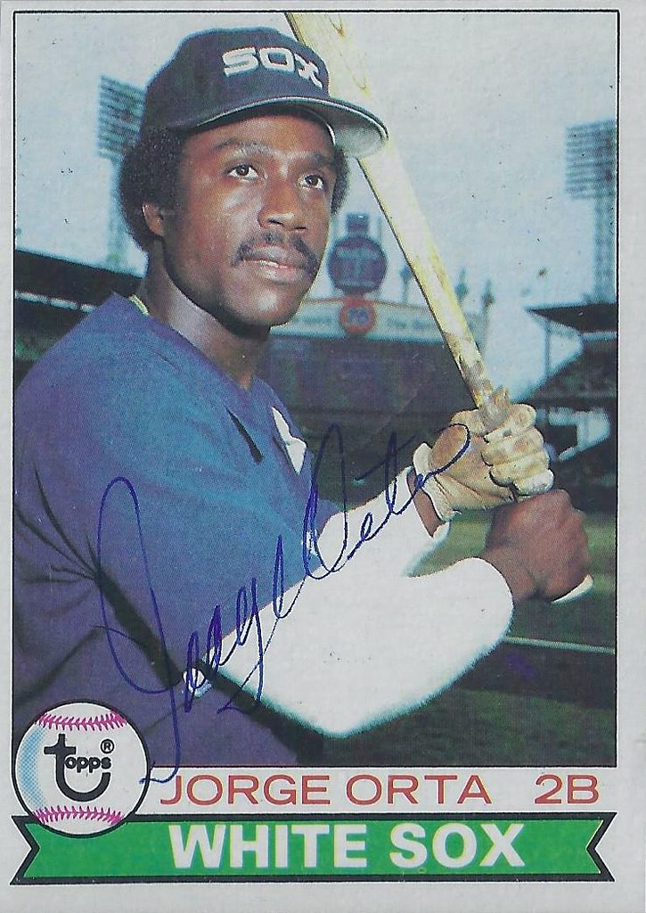 1979 Topps Jorge Orta 631 Second Baseman Autographe