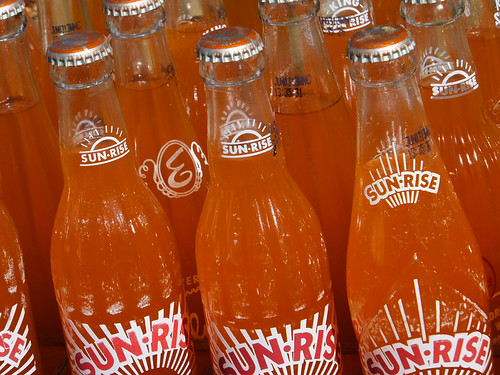 sunrise bottles orangesoda