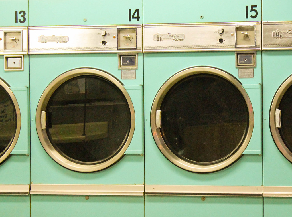 Washing Machines | Old-school washing machines with coin slo ...
