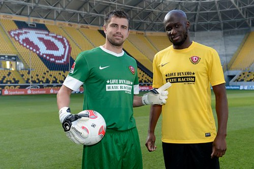 Dynamo Dresden, Germany with Benjamin Kirsten and Mickael Poté (c) Frank Dehlis | by Fare network