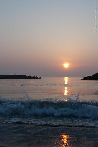 sunset beach 日本 新潟県 上越市