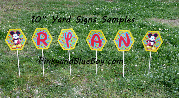 Mickey Mouse Clubhouse Birthday Yard Signs Stakes Party