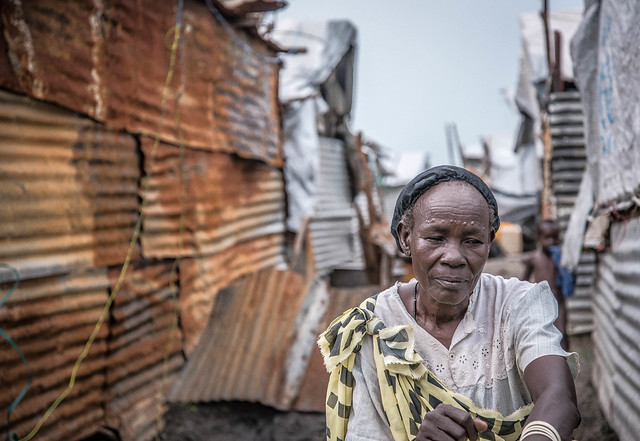 """""""This is the first time I witnessed war"""", said a 70-year old woman, who now lives in the Malakal camp. """"Before the fighting was between the army, but in this war, they are targeting civilians because of ethnicity""""."""