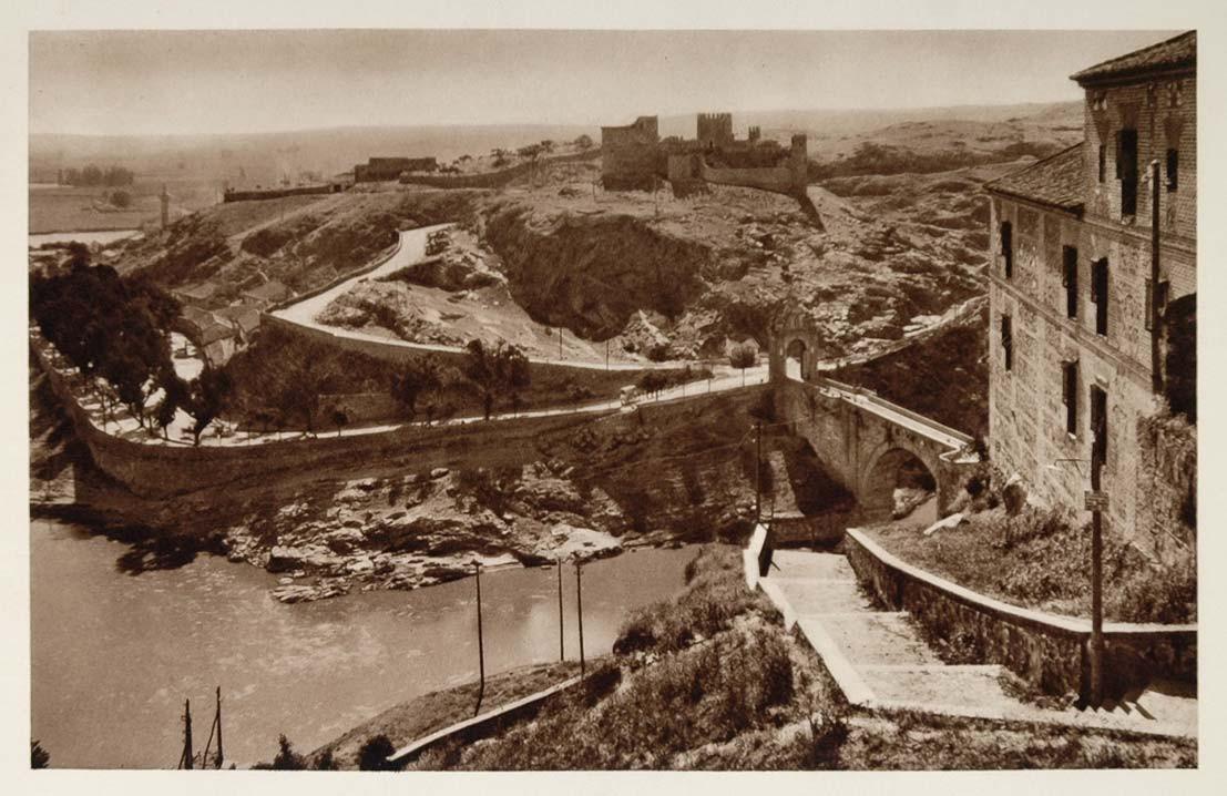 Castillo de San Servando y Paseo de la Rosa en 1928 por Friedrich Christiansen