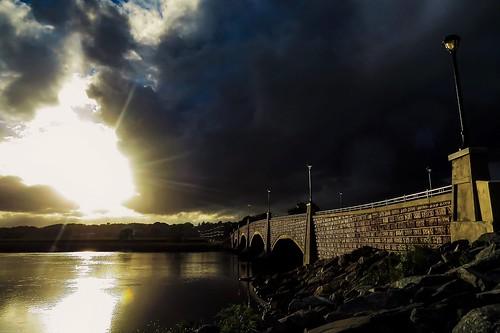 sunset sky clouds andrewlincolnphotographer berkley bridge dighton massachusetts river