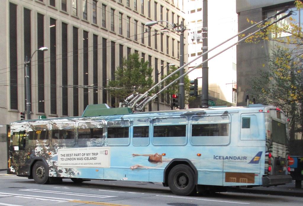 King County Metro 2001 Gillig Phantom Trolley 4177  Icelan