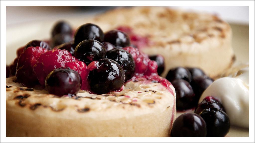 Blueberry & Raspberry Crumpets