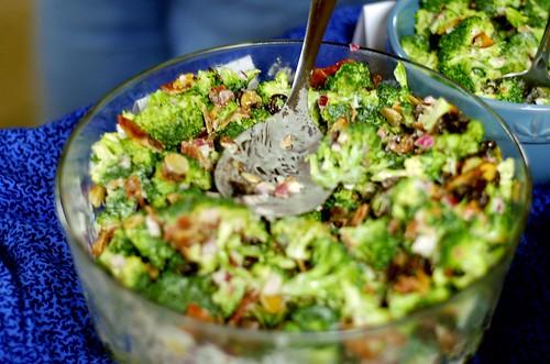 Broccoli salad   by toomanycommas