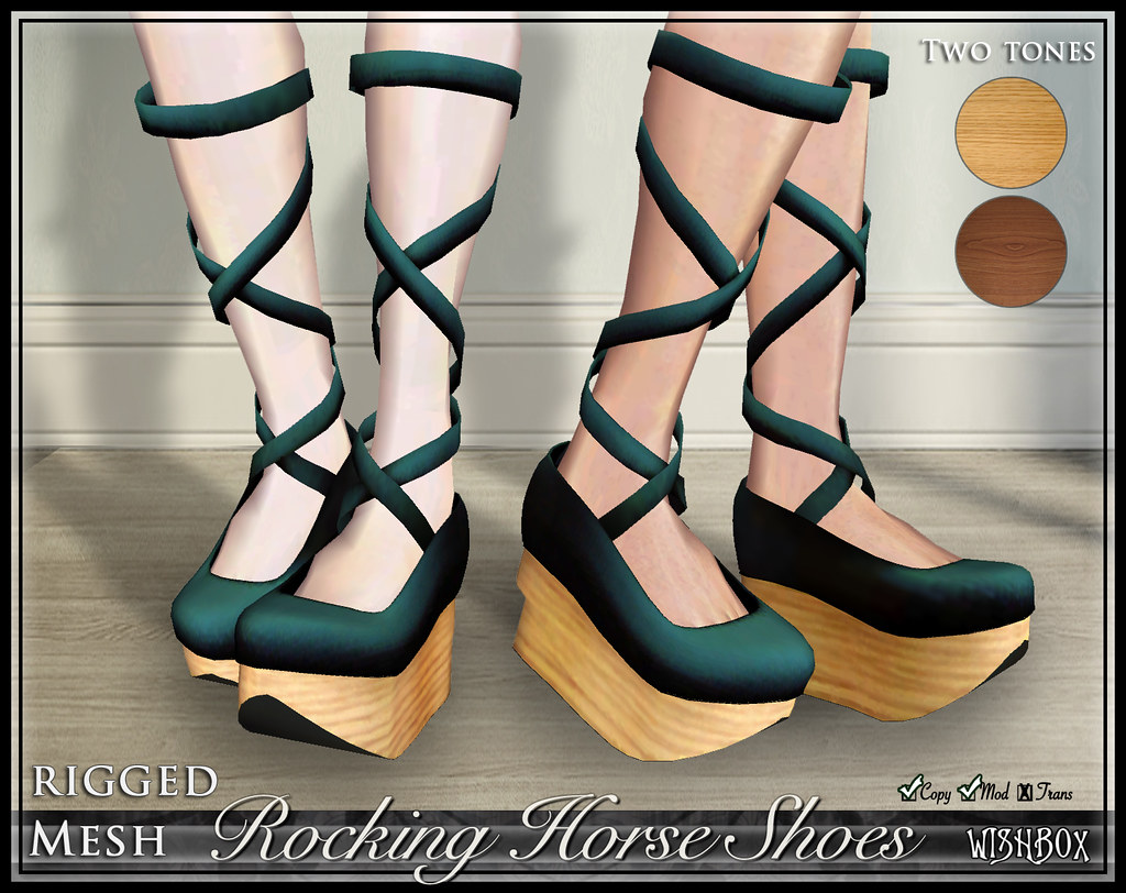 Rocking Horse Shoes (Teal)