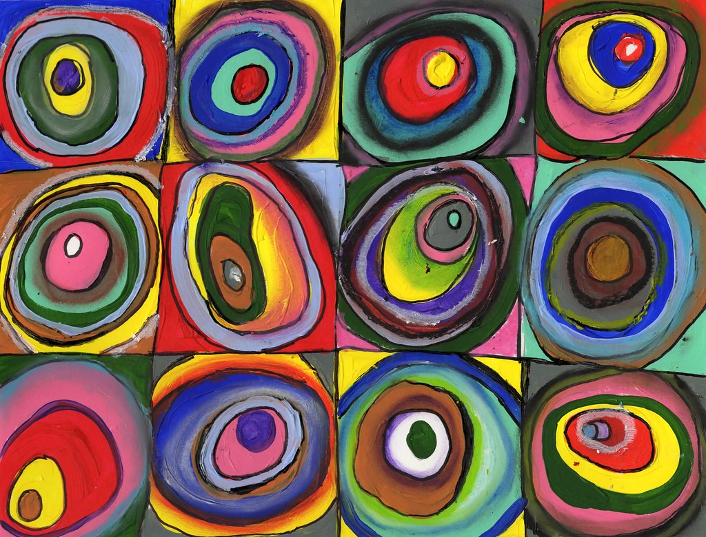 Draw365 14 2 C Julia Forsyth Kandinsky Concentric Circle