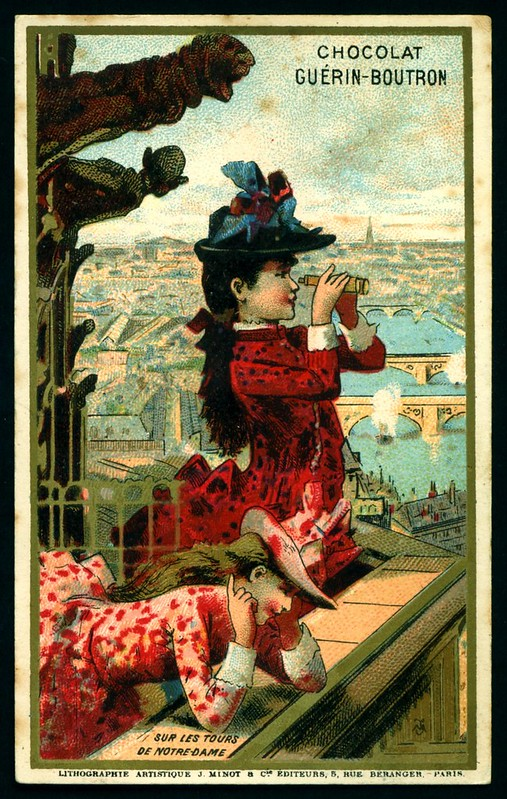 French Tradecard - The View From Notre Dame