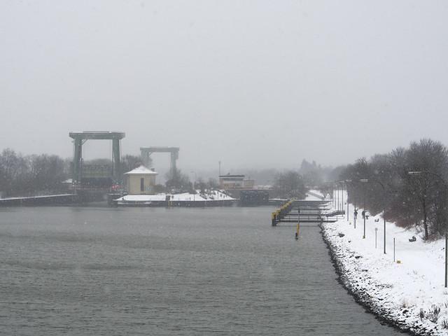 Schleuse Flaesheim Winter-13