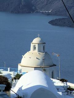 Greece - Santorini - Fira - Church Rooftop