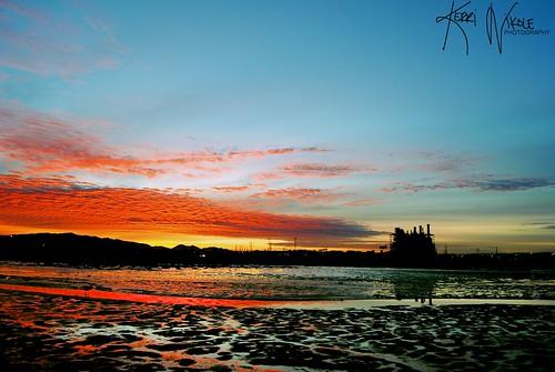 california color reflection water silhouette skyline clouds sunrise nikon warm sandiego nikkor zoomlens sandiegobay chulavista southbaypowerplant nikond3000 theportofsandiego kerrinikolephotography