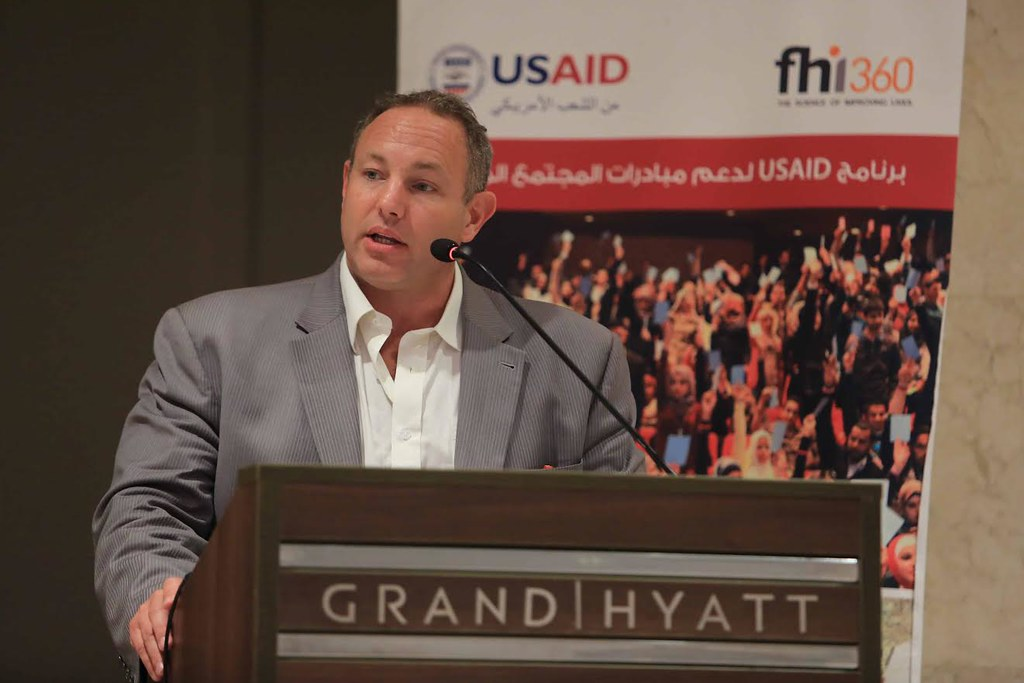 Sean Osner, USAID/Jordan's Director of Democracy, Rights a
