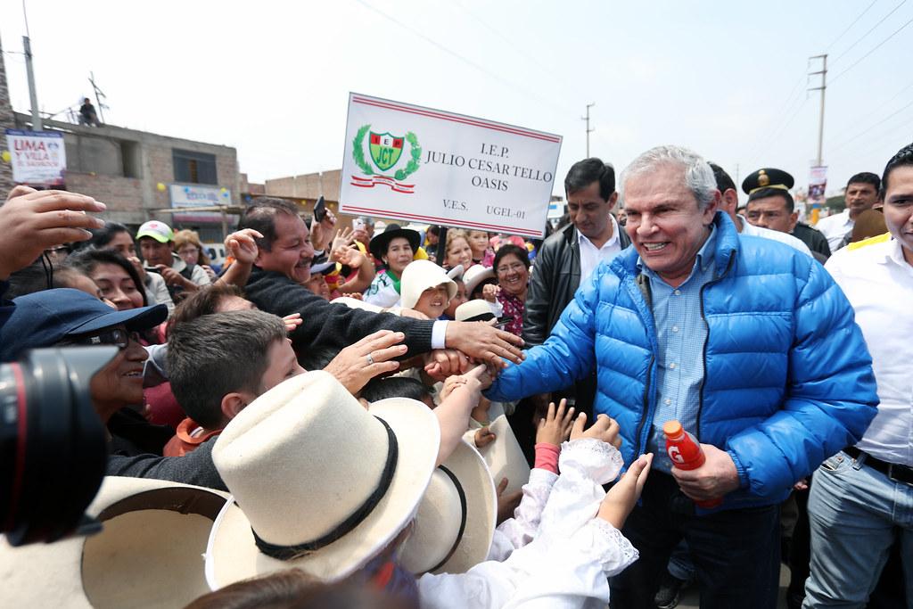 ALCALDE LUIS CASTAÑEDA INAUGURÓ MÁS DE 15 KM DE PISTAS EN VILLA EL SALVADOR
