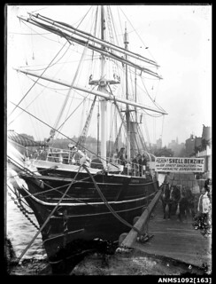 AURORA berthed in Sydney Harbour, Circular Quay West, before Ernest Shackleton's Antarctic expedition