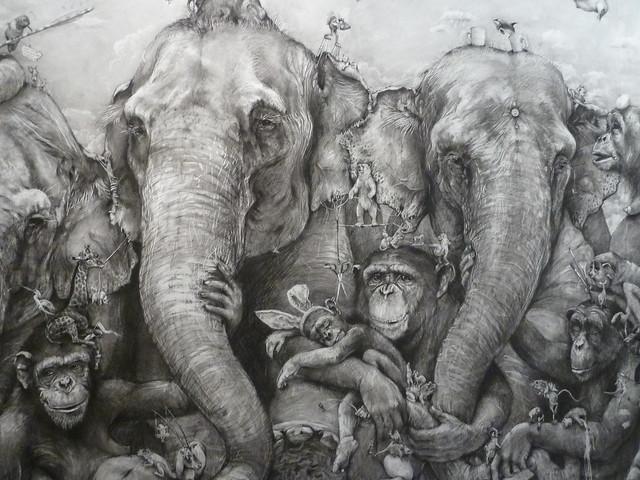 Grand Rapids, MI, ArtPrize 2012, Black and White Pencil Drawing