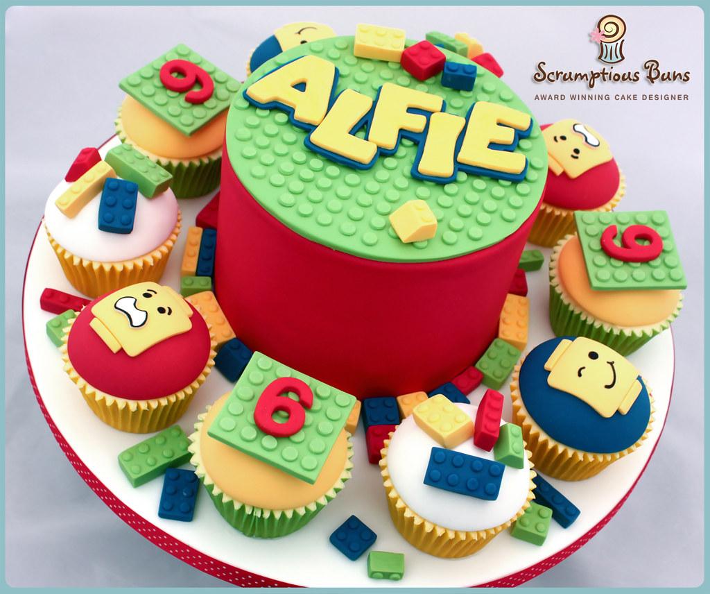 Awesome Big Cake Little Cakes Lego Alfies 6Th Birthday Cake Flickr Funny Birthday Cards Online Elaedamsfinfo
