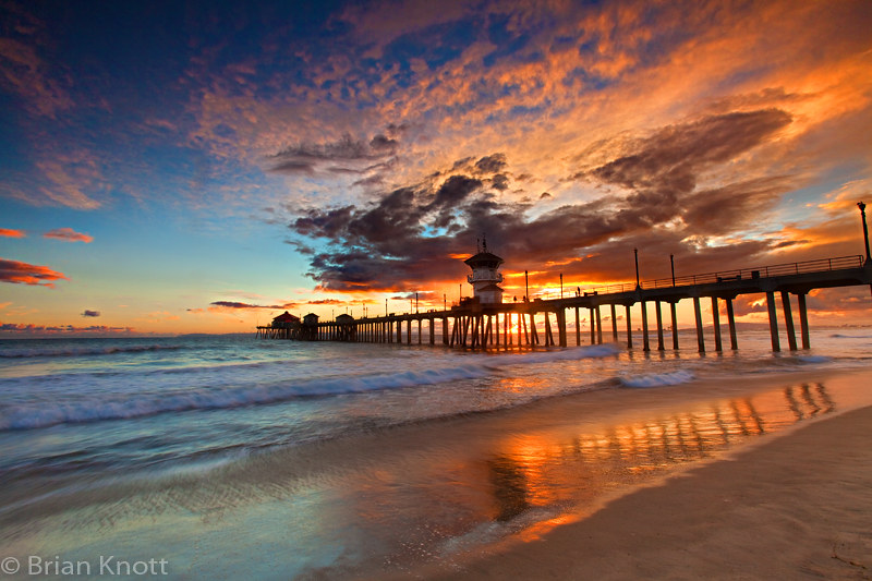 Huntington Beach Pier Sunset C All Rights Reserved Hunting Flickr
